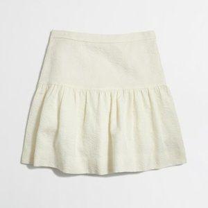 J.CREW floral jacquard flare ivory mini skirt 00